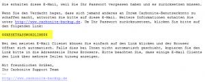 eMail von Carbonite